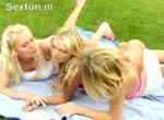 Geile lesboscene van drie lekkere meiden