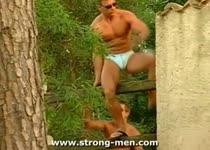 Drie geile homoos in het bos