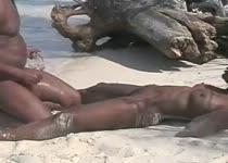 Zand in haar kut