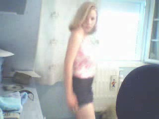 Girl stripping on webcam