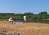Tienersex op het strand