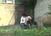 Stiekem gefilmd tijdens buitensex
