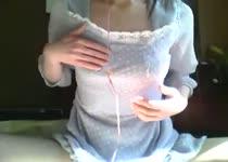 Lekker vingeren voor de webcam