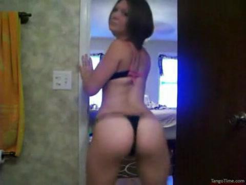 Sexy dansen in haar geile string
