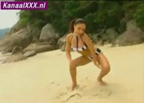 Dp-tje op het strand