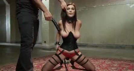 Sexy submissive deepthroat dildo